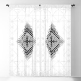 Vigorous and bold fractal geometric shapes with compass symbol Blackout Curtain