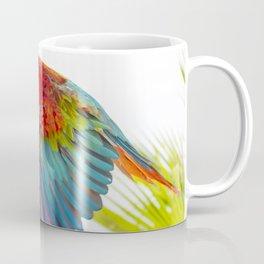 Colorful macaw flying Coffee Mug