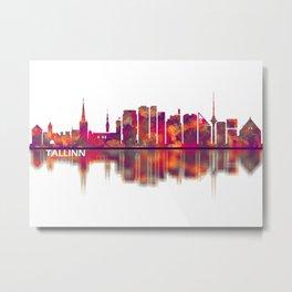 Tallinn Skyline Metal Print