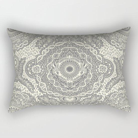 Rain in the Garden - grey and cream Rectangular Pillow