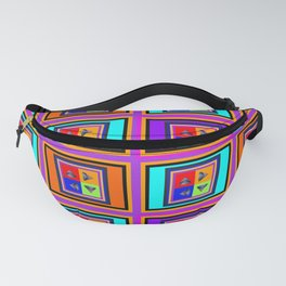 Abstract Pyramids Fanny Pack
