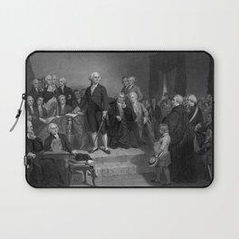 Washington Delivering His Inaugural Laptop Sleeve