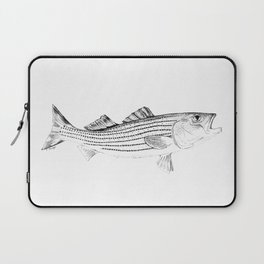 Striped Bass - Pen and Ink Illustration Laptop Sleeve