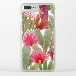 British Seaweed -  collage of vintage botanical illustrations Clear iPhone Case
