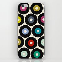 vinyl iPhone & iPod Skins featuring VINYL by Sharon Turner