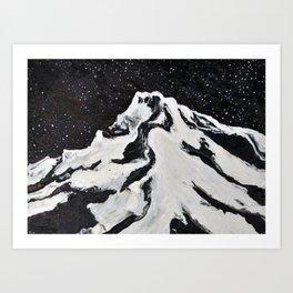 Mount Hood and Stars Art Print