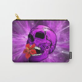 Purple Sugar Skull with Hibiscus Flower Carry-All Pouch