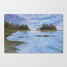 Maine Purple Sunset Cove Print Canvas Print