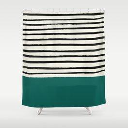 Jungle x Stripes Shower Curtain