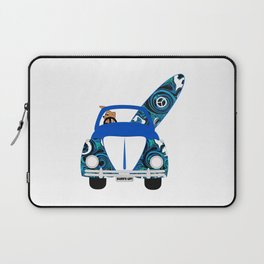 Dog's Surf Day Out Laptop Sleeve