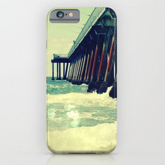 Hermosa Beach Pier Heart Bokeh iPhone & iPod Case