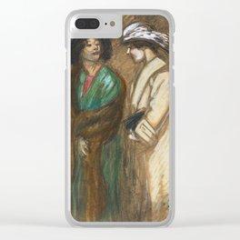 "Théophile Steinlen ""Sortie du theatre"" Clear iPhone Case"