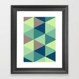 I spy triangles Framed Art Print