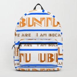 Ubuntu Unity In Swahili White Background And Brown Text Backpack