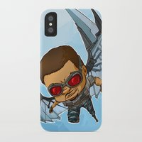 falcon iPhone & iPod Cases featuring Falcon by Meekobits