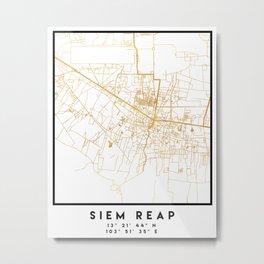 SIEM REAP CAMBODIA CITY STREET MAP ART Metal Print