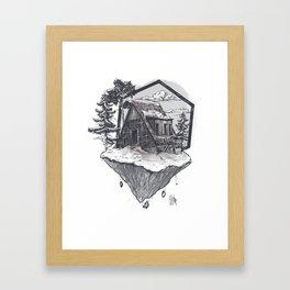 Lonely Snow House Framed Art Print