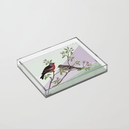 loving chaffinches Acrylic Tray