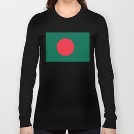 Flag of Bangladesh, High Quality Image Long Sleeve T-shirt