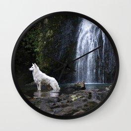 Astro the white german shepard Wall Clock