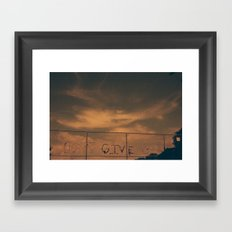 Ever. Framed Art Print