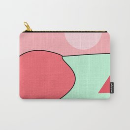Happy Place - Coral Mint Carry-All Pouch