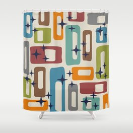 Retro Mid Century Modern Abstract Pattern 224 Shower Curtain