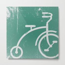 Grunge bicycle Metal Print