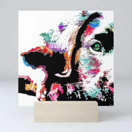 riley the lab pup Mini Art Print