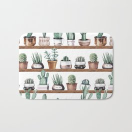 Cactus Shelf Rose Gold Green Bath Mat