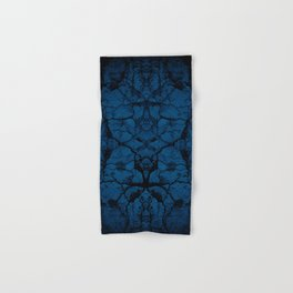 Blue cracked wall pattern Hand & Bath Towel