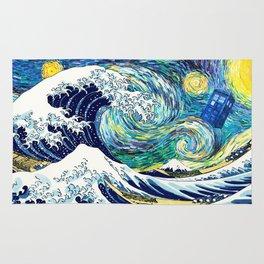Tardis Starry Wave Night Rug