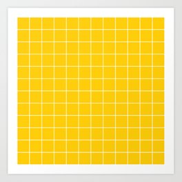 Sunshine Grid Art Print