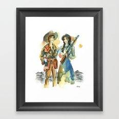 Pioneer Wives Framed Art Print