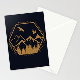 Two ravens flew Stationery Cards