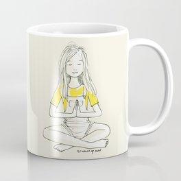 Girl in Sukhasana Coffee Mug
