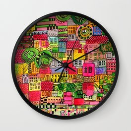 Color Town Wall Clock