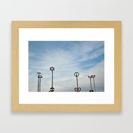 City to Sea Bridge Framed Art Print