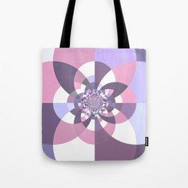 Mauve Lavender Puce Kaleidoscope Tote Bag