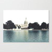 washington dc Canvas Prints featuring Washington DC by Postcardsbeyond