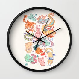 Chinese Animals of the Year Wall Clock