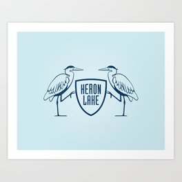 HERON LAKE Art Print