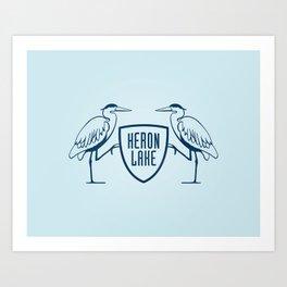 HERON LAKE Art Print