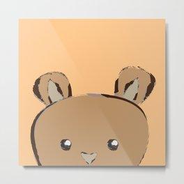 Peek-A-Boo Bear Metal Print