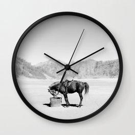 Horse Bromo Wall Clock