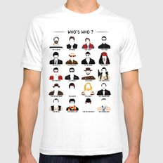 Who's who? MEDIUM White Mens Fitted Tee