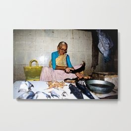Mumbai Crowds - Dadar Station and Market - 26 Metal Print