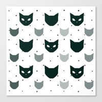 because cats Canvas Prints featuring Cats Cats Cats by Be Kindly