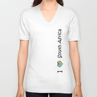 south africa V-neck T-shirts featuring South Africa by Jozi