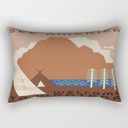 Vintage poster - Montana Rectangular Pillow